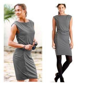 Athleta Westwood Dress Large micro pinstriped
